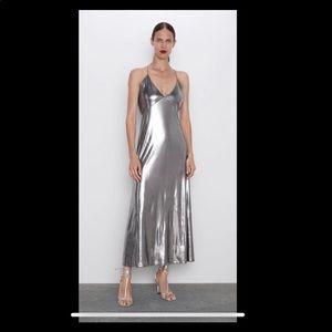 Zara metallic dress